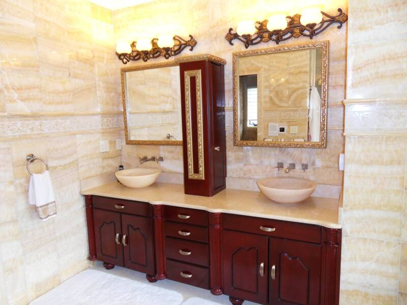 Bathroom Vanity Extension cherry bathroom vanity.small bathroom with cherry wood vanity also